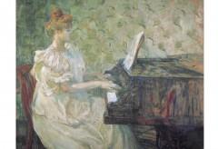 Kunstmuseum Bern: Henri de Toulouse-Lautrec (1864 – 1901), Misia Natanson am Flügel, 1897