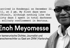 ZKM: GLOBALE: Writers for Freedom: Enoh Meyomesse
