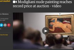 """170,4 Millionen Dollar für Amedeo Modiglianis """"Nu couché"""""""