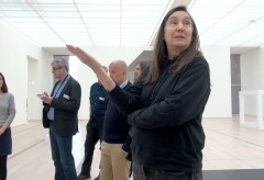 """Fondation Beyeler: Jenny Holzer talks about her works in the exhibition """"Black Sun"""""""