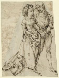 Albrecht Dürer (1471-1528) Liebespaar, um 1492-94 Feder in Braun, 258 x 191 mm © Hamburger Kunsthalle / bpk Foto: Christoph Irrgang