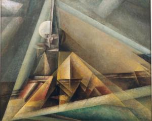 Lyonel Feininger Gaberndorf I, 1921 Öl auf Leinwand, 80 x 100 cm © VG Bild-Kunst, Bonn 2015 Osthaus Museum Hagen & Institut für Kulturaustausch, Tübingen Foto: Achim Kukulies, Düsseldorf