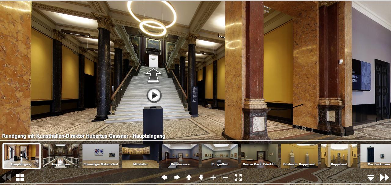 Virtueller Rundgang durch die Hamburger Kunsthalle