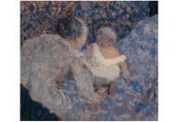 Edouard Vuillard – Grand-mère et enfant au lit bleu, 1899