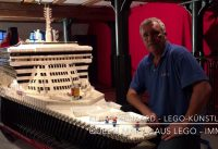 Queen Mary 2 aus Lego im Internationalen Maritimen Museum Hamburg
