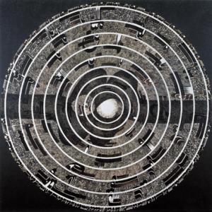 Faramarz Pilaram: Calligraphy-Painting, 1975   Oil on canvas, 200x200 cm   © Tehran Museum of Contemporary Art