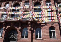 Senckenberg-Botschafter Stefan Glowacz erklimmt die Museumsfassade