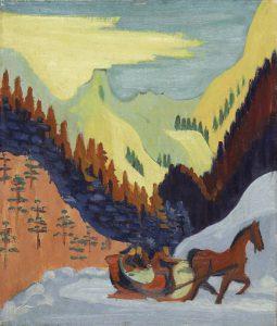 Ernst Ludwig Kirchner (1880–1938) Schlittenfahrt im Schnee