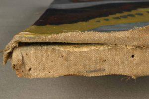 Zwei übereinander liegende textile Bildträger