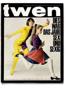twen, Nr. 12, 1966, Fotografie: Sam Haskins, Grafik: Willy Fleckhaus, © Foto: Carsten Wolff, Fine German Design, Frankfurt am Main