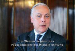 Hellmut Seemann, Präsident der Klassik Stiftung Weimar, zum Programm im Jahr 2017