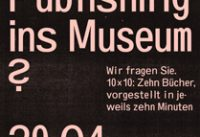 Self-Publishing – Ein neues Sammlungsthema des Museums?