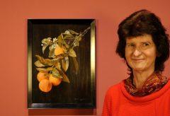 """Dr. Eva-Maria Stange in der Ausstellung """"Unter italischen Himmeln"""""""