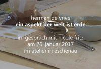 Herman de Vries im Gespräch mit Nicole Fritz.