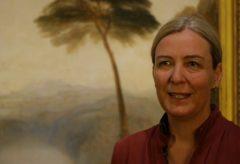 """Marion Ackermann in der Ausstellung """"Unter italischen Himmeln"""""""