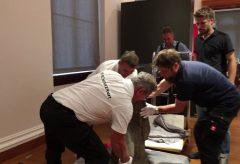 Aufbau der Ausstellung »Wege aus dem Bauhaus. Gerhard Marcks und sein Freundeskreis«