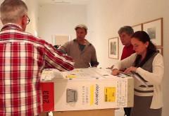 """Ausstellungsvorbereitung """"Der Himmel so weit"""" – Museum Schloss Moyland"""