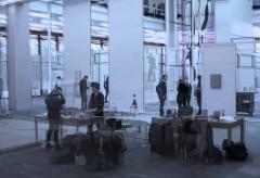 Oswald Oberhuber – Ausstellungsaufbau im 21er Haus