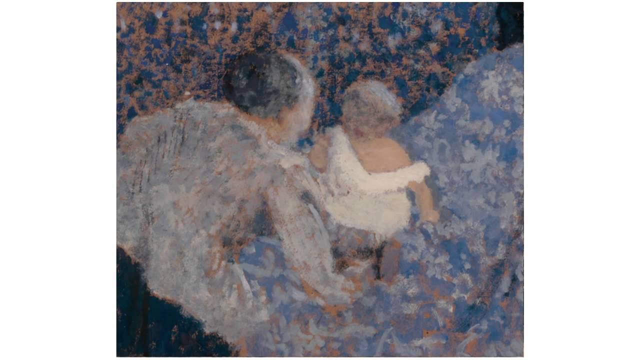 edouard vuillard grand m re et enfant au lit bleu 1899 museumsfernsehen. Black Bedroom Furniture Sets. Home Design Ideas