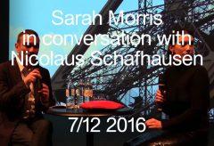 Sarah Morris im Gespräch mit Kurator Nicolaus Schafhausen