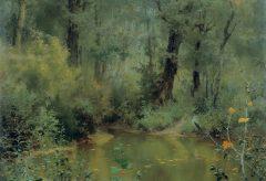 "Kunsthalle zu Kiel übergibt Vasilij Dmitrievič Polenovs ""Waldweiher"" an Museumspark Taganrog"